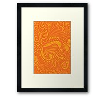 Pop Orange Framed Print