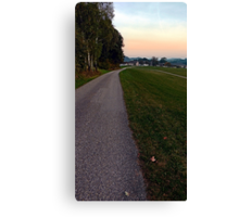 Country road into dawn | landscape photography Canvas Print