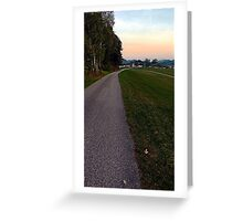 Country road into dawn | landscape photography Greeting Card