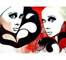 Pop Art Twins Photographic Print