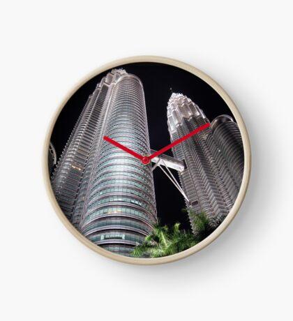 Petronas Towers by Night Clock