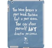 dr seuss you have brains in your head iPad Case/Skin