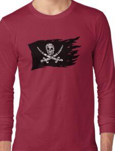 Digital Pirate Jolly Roger Long Sleeve T-Shirt