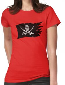 Digital Pirate Jolly Roger Womens Fitted T-Shirt
