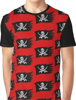 Digital Pirate Jolly Roger Graphic T-Shirt