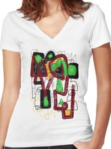 Mad Dog Women's Fitted V-Neck T-Shirt