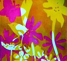 "Mustard Bird by Belinda ""BillyLee"" NYE (Printmaker)"