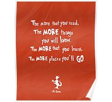 dr seuss the more that you read Poster