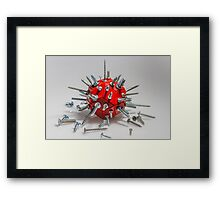 Screw Ball Framed Print