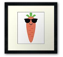 Carrot Emoji Cool Sunglasses Framed Print