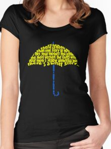 Yellow Umbrella Women's Fitted Scoop T-Shirt