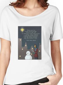 MIndfulness in Winter Women's Relaxed Fit T-Shirt