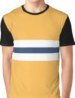 Yellow with blue stripes Graphic T-Shirt