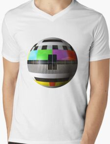 3D TV test pattern  Mens V-Neck T-Shirt