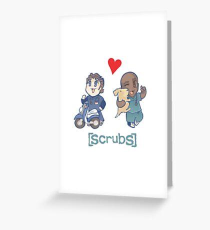 Scrubs, JD&Turk in love Greeting Card