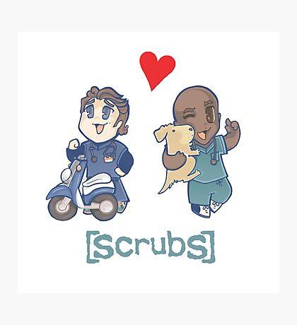 Scrubs, JD&Turk in love Photographic Print