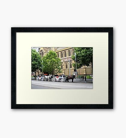 Melbourne Horse Drawn Carriages Framed Print