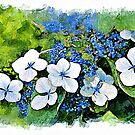 Blue Wave - watercolour by PhotosByHealy