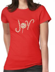Candy Joy Word 2 Womens Fitted T-Shirt