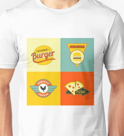 Food pizza burger and chiken Unisex T-Shirt