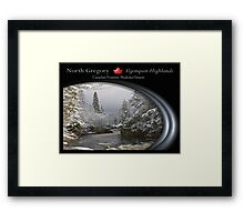canadian frontiers 2 Framed Print