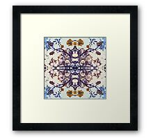 YELLOW FLOWER ABSTRACT Framed Print