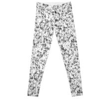 Abstract Seamless Background with Letters. Leggings