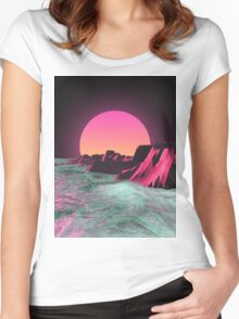 80's  R I S E R Women's Fitted Scoop T-Shirt