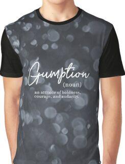 Gumption Definition - Word Nerd Design Graphic T-Shirt