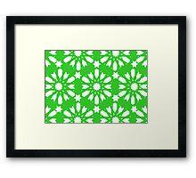 Geometrical Green - Floral Decor Framed Print