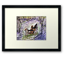 Out In The Meadowbrook Cart  Framed Print