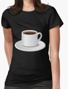 Glitch Drinks coffee Womens Fitted T-Shirt