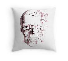 Skulls are for Pussies Throw Pillow
