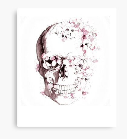 Skulls are for Pussies Canvas Print