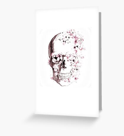 Skulls are for Pussies Greeting Card
