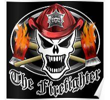 Fire Fighter Skull 2.6 Poster