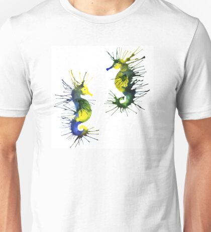 Two green seahorses Unisex T-Shirt