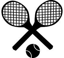 Tennis Rackets and Tennis Ball Photographic Print
