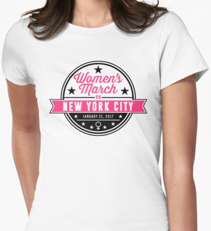 women's march on nyc Womens Fitted T-Shirt
