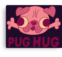 GF - Pug Hug Canvas Print