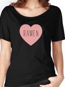 I Love Ramen Heart | Noodle Noodles| Hearts Print Women's Relaxed Fit T-Shirt