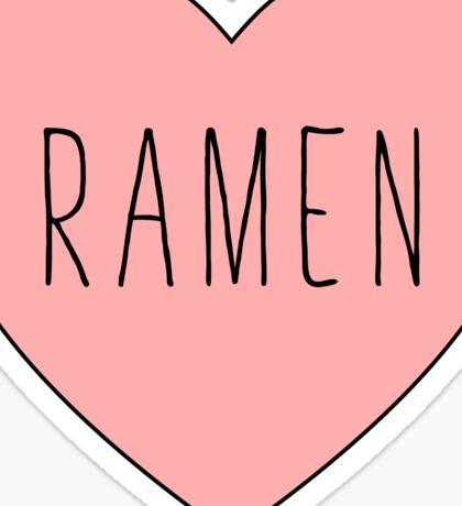 I Love Ramen Heart | Noodle Noodles| Hearts Print Sticker