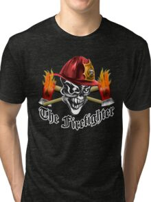 Firefighter Skull 5.1 Tri-blend T-Shirt