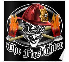 Firefighter Skull 5.2 Poster