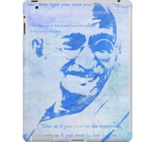 Mahatma Gandhi and some his quotes iPad Case/Skin