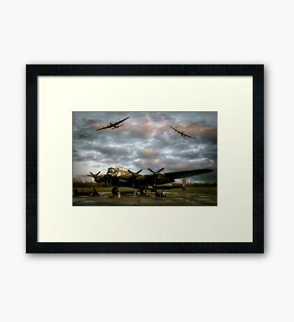 The Avro Lancaster Trio Framed Print