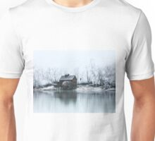 Water mill on the frosted trees in Jelka Unisex T-Shirt