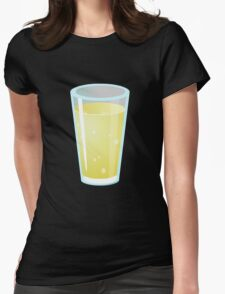 Glitch Drinks lemon juice Womens Fitted T-Shirt