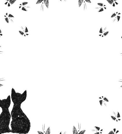 Cats with butterflies Sticker
