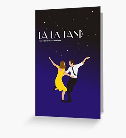 La La Land Film Minimal Emma Stone Ryan Gosling Dance Greeting Card